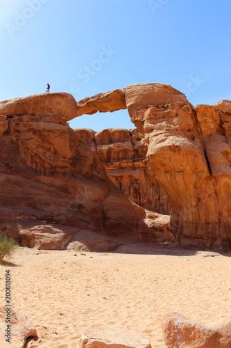 Photo  Bridge in Wadi Rum desert in Jordan
