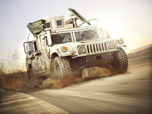 Military Armored Vehicle Movin...