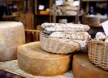 Variety Of Organic Cheeses And...