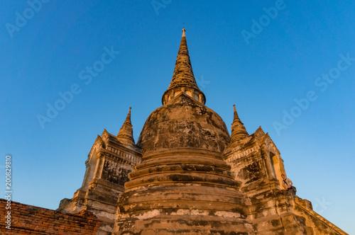 Foto op Aluminium Rudnes Ancient ruins of Wat Phra Si Sanphet temple
