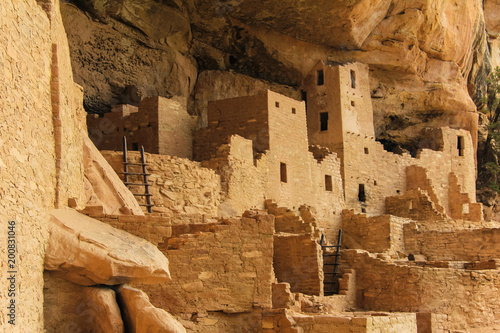 Keuken foto achterwand Oude gebouw Buildings and ruins of the ancient Pueblo cliff city of Mesa Verde in Colorado