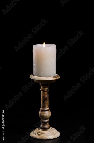 Foto Kerzenständer Kerzenleuchter holders Holz Flamme Wachs Kerze Dekoration