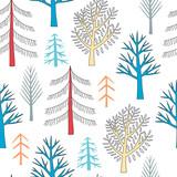 Drzewa w lasowym bezszwowym wzorze - 200832447