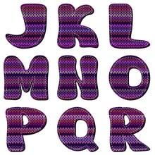 Knitted Scrapboook Alphabet On White