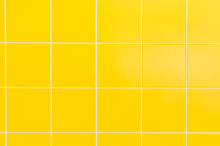 Yellow Ceramic Tiles Background In Bathroom