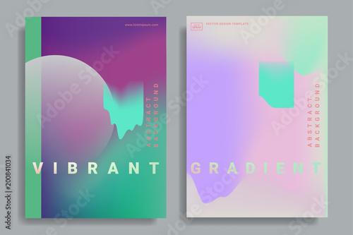 Fototapeta design templates with vibrant gradient shapes obraz na płótnie