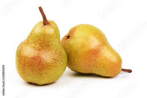 Photo Juicy fresh ripe Williams pears, isolated on a white background