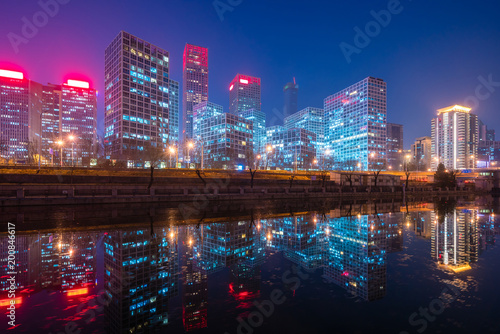 Foto op Canvas Peking Beijing CBD at night
