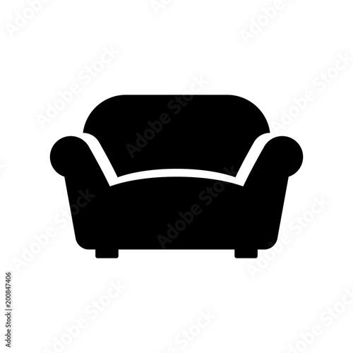 Obraz na płótnie sofa, couch, furniture icon isolated vector