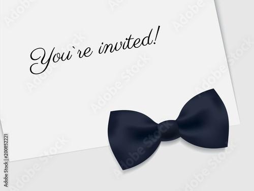 Vip Premium Horizontal Invitation Card Black Tie Event