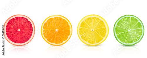isolated-citrus-fresh-fruits-sliced-in-a-row-on-a-white-background