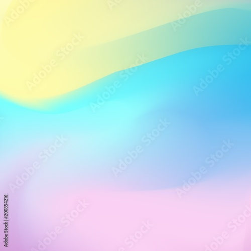 Abstract Holographic Backdrop 80s Bright Colorful