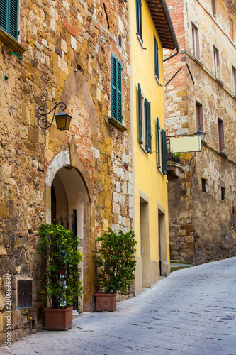Deurstickers Toscane street of a small old town in Tuscany. Italy