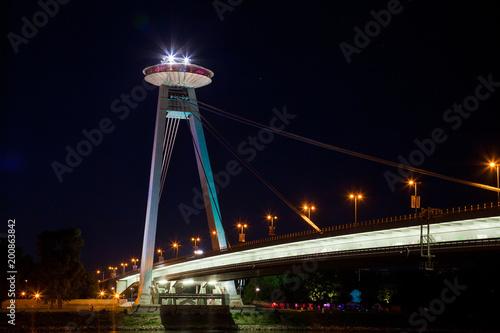 Türaufkleber UFO New Bridge over Danube River in Bratislava, Slovakia