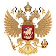 Coat Of Arms Of Russia With Tw...
