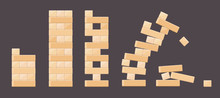 Wood Bricks Details From Tower Games For Kids