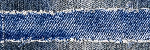 Fotografia, Obraz Denim blue jeans fabric frame
