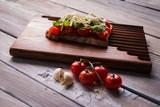 Tasty tomatoes bruschetta - 200875409