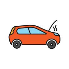 Broken Car Color Icon