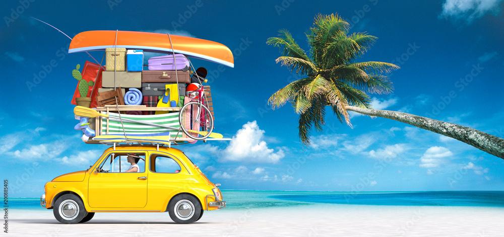 Fototapeta Finally we got the summer, I leave for the beach holidays