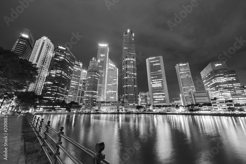 Foto op Aluminium New York Skyline of Singapore city at night