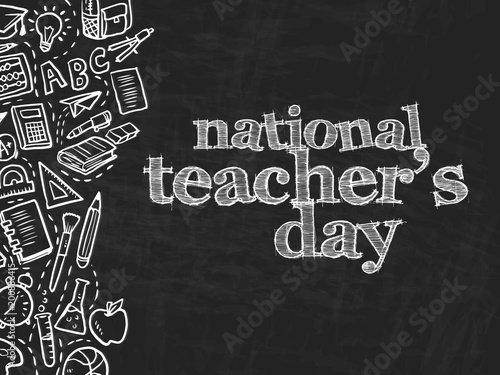 Fotografía  nice and beautiful abstarct or poster for National Teacher's Day or Teacher's day with nice and creative design illustration