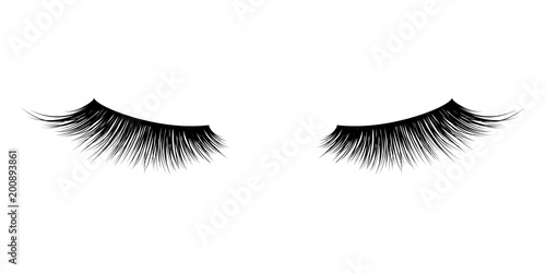 Fotografia, Obraz  Eyelash or lash mascara vector icons