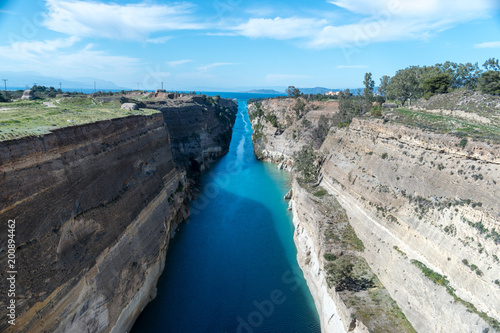 View of the Corinth canal in Greece. Canvas-taulu