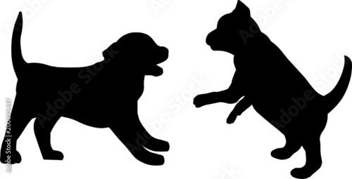 Obraz Playing Puppies - fototapety do salonu