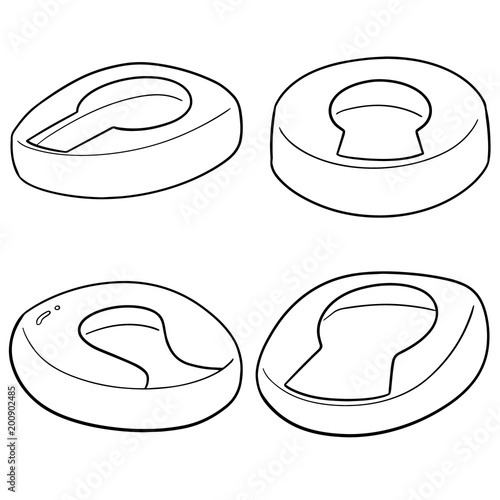 Photo vector set of bedpan