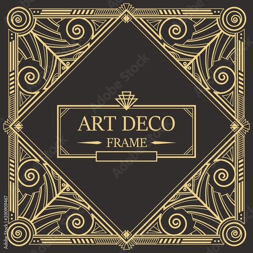 Fototapety, obrazy: Art Deco Border frame vector 08