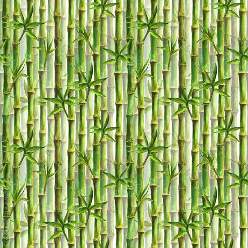 zielony-bambusowy-lasowy-bezszwowy-wzor