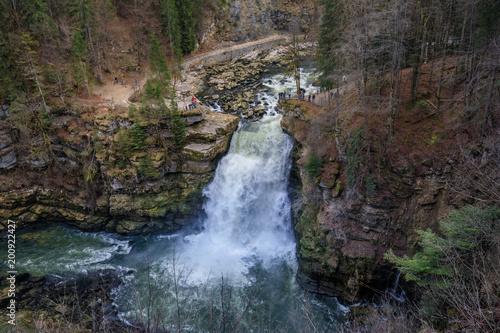 Saut du doubs biggest waterfall in the region of doubs Wallpaper Mural