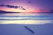 Träumen am Strand am Morgen