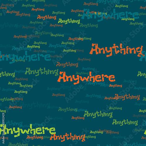 Fotografie, Obraz  Anywhere anything pattern