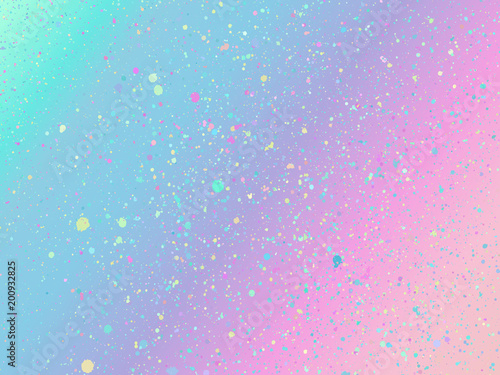 Unicorn background with rainbow mesh. Fantasy gradient backdrop Wallpaper Mural