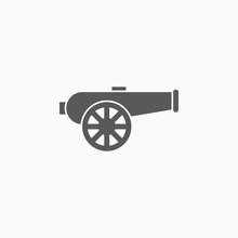 Cannon Icon, Artillery Vector