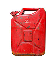 Old Red Metal Fuel Tank For Tr...