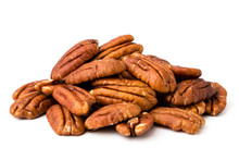 A Bunch Of Peeled Pecans On A ...