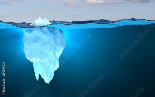 Fotografie, Obraz  Iceberg, concept