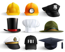 Different Professions Hats Set