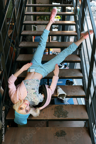 real girl looks like a barbie doll in shop is on sale Canvas Print