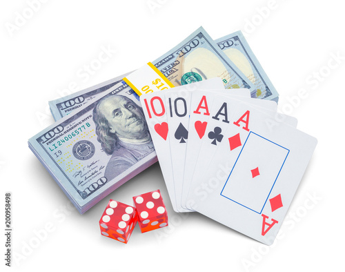 фотография  Money and Playing Cards