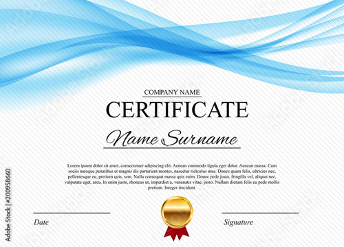 Certificate template Background. Award diploma design blank. Vector ...