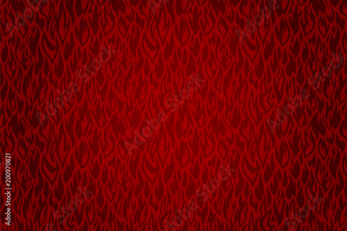 Obraz na płótnie Hot background with beautiful vector red fire pattern