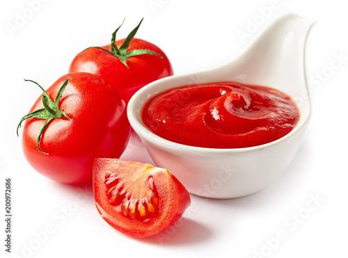 Fototapeta bowl of tomato sauce ketchup obraz