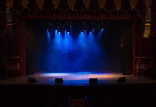 An Empty Stage Of The Theater,...