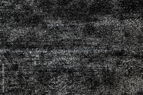 Grunge white color chalk texture on black board background