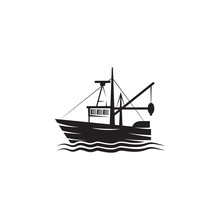 Fishing Barge Icon. Element Of Ship Illustration. Premium Quality Graphic Design Icon. Signs And Symbols Collection Icon For Websites, Web Design, Mobile App