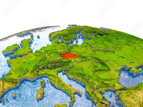 Photo  Czech republic on model of Earth